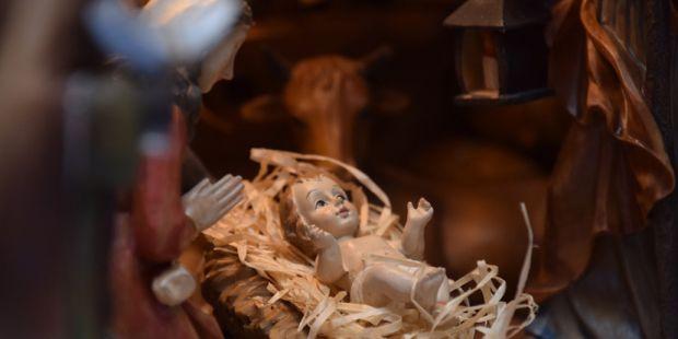 Krippendarstellung Jesu Geburt