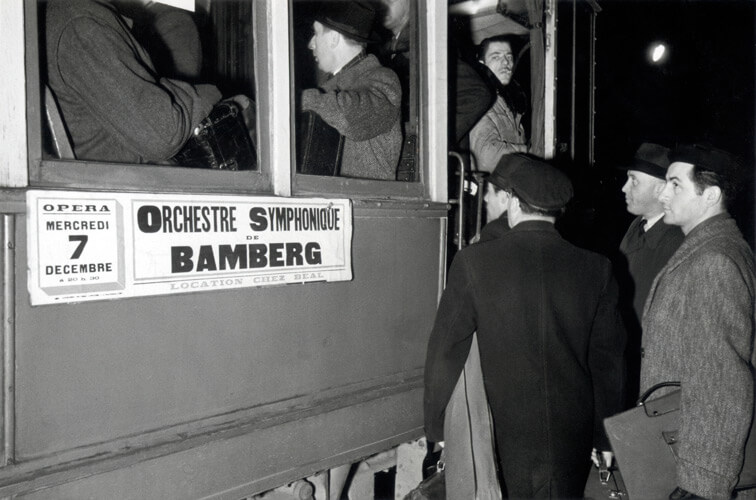 Die Bamberger Symphoniker 1949 auf Tournee in Frankreich