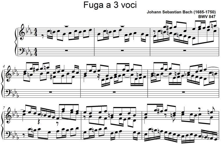 Fuga Nr. 2 c-Moll BWV 847