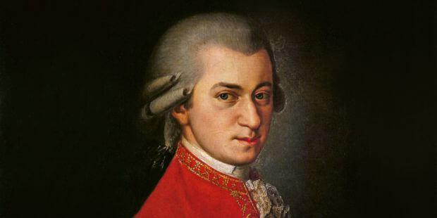 Wolfgang Amadeus Mozart. Gemälde von Barbara Kraft 1819