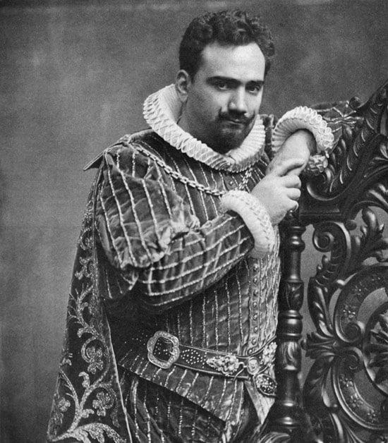 """Enrico Caruso als Herzog von Mantua in """"Rigoletto"""""""