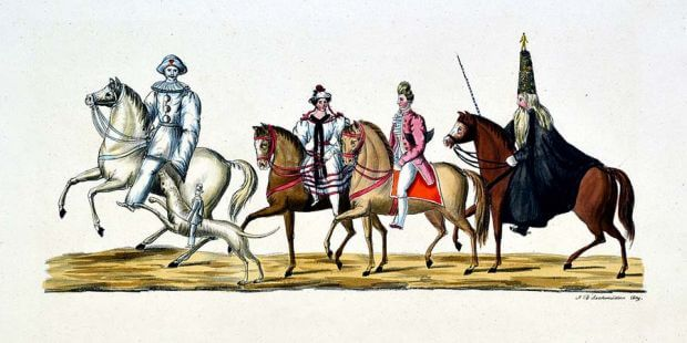 Maskerade in Bamberg 1837