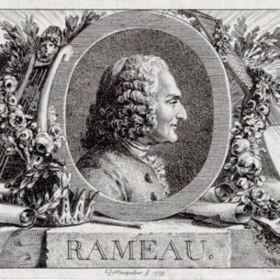 Jean-Philippe Rameau. Stich von Louis Joseph Masquelier, 1779