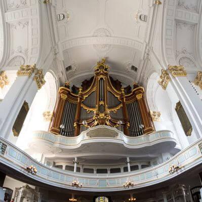 Die Große Orgel der Hauptkirche St. Michaelis in Hamburg