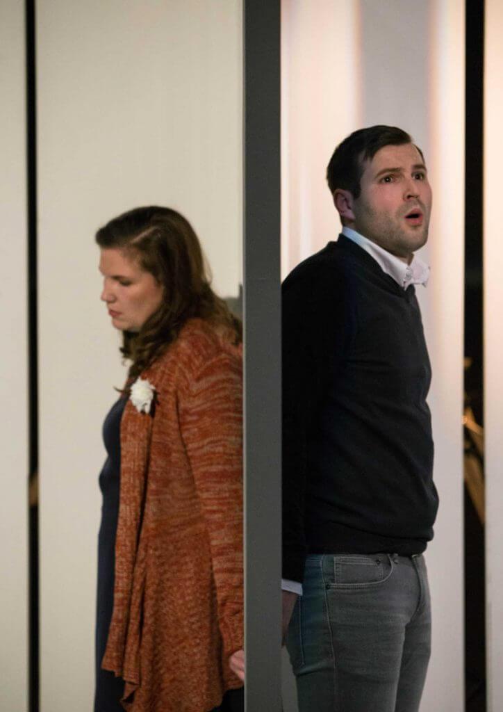"""Szene aus Udo Zimmermanns """"Weiße Rose"""" am Theater Altenburg-Gera"""