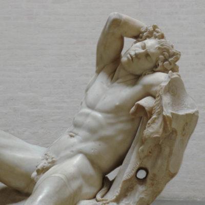"Der sog. ""Barberinische Faun"". Skulptur von Gian Lorenzo Bernini (1568-1680)"