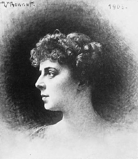 Emma Debussy, Druck nach einem Gemälde von Léon Bonnat, 1903