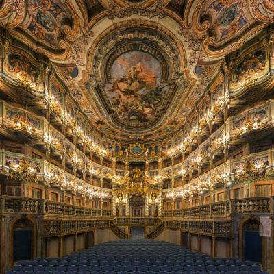 Markgräfliches Opernhaus Bayreuth. Innenraum mit Fürstenloge