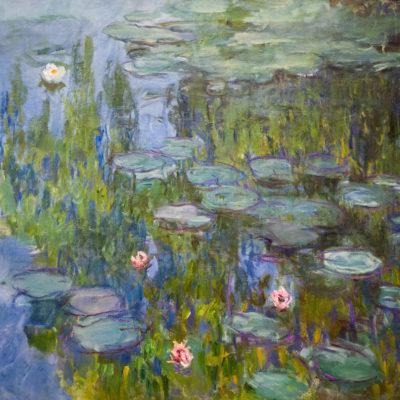 Seerosen (Nymphéas). Gemälde von Claude Monet, 1915