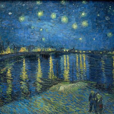 Sternennacht über der Rhone. Gemälde von Vincent van Gogh, 1888