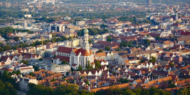 Luftbild von Augsburg