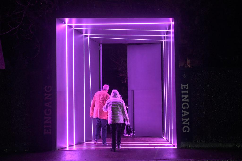 Theater Augsburg. Eingang zur Spielstätte am Martini-Park