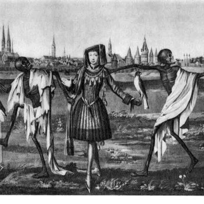 """Der sog. """"Lübecker Totentanz"""" (Ausschnitt), 1701"""