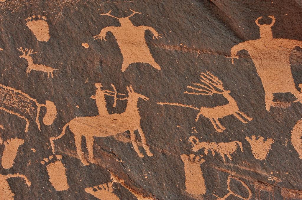 Indigene Höhlenmalerei in Nevada