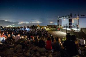 Molyvos International Music Festival. Abendliches Konzert auf der Burg Molyvos
