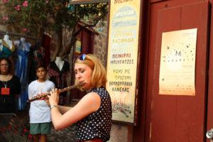Molyvos International Music Festival. Flötistin Daniela Koch