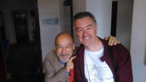 The Book of Hours. Komponist Salvatore Sciarrino (l.) und Eamonn Quinn