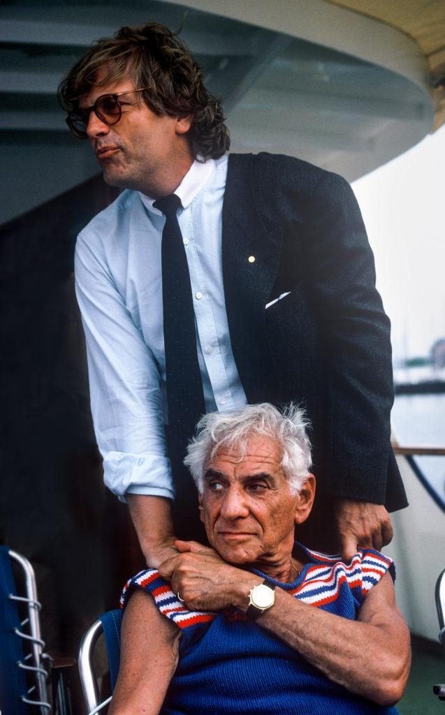 Leonard Bernstein und Justus Frantz, 1986