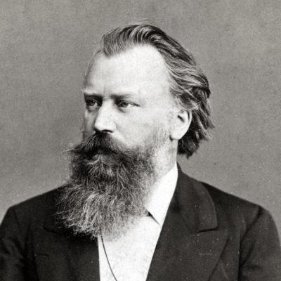 Johannes Brahms, Fotografie von Fritz Luckhardt, 1885