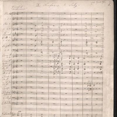 Anton Bruckner, Sinfonie Nr. 9., Autograf
