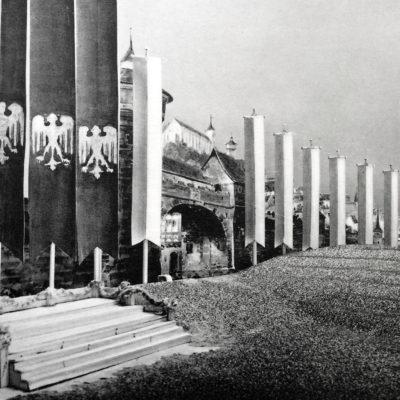 """Bühnenbild zu """"Die Meistersinger"""" von Benno von Arent, 1938"""
