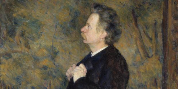 Edvard Grieg. Gemälde von Erik Werenskiold, 1892