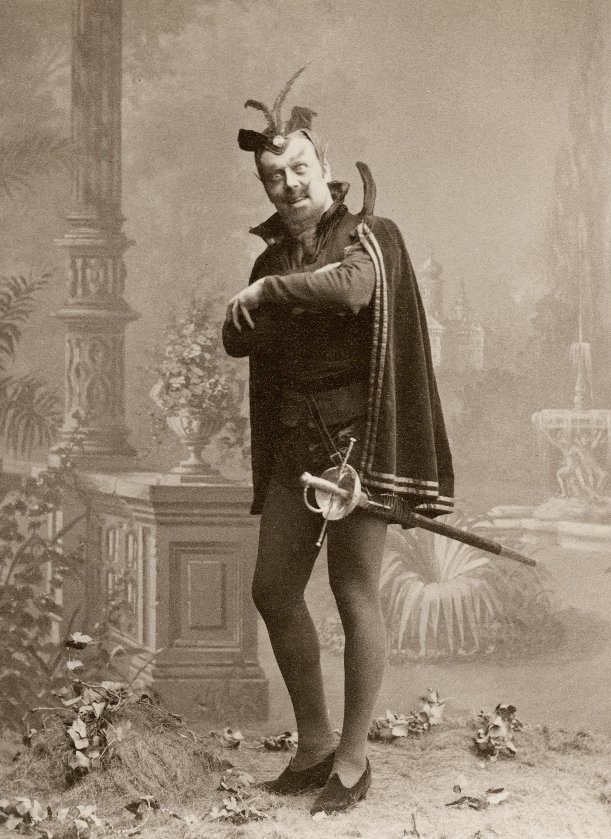 Der schwedische Sänger Carl Söderman als Mefistofele, 188