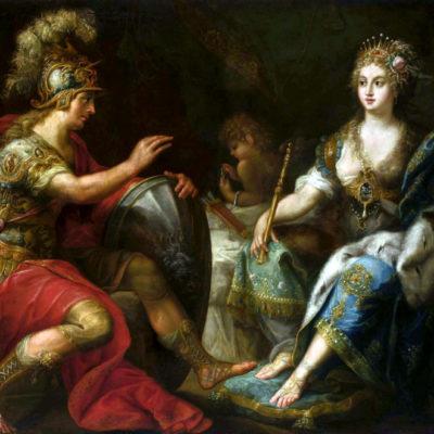Aeneas und Dido. Gemälde von Lorenzo Pasinelli, 2. Hälfte 17. Jh.