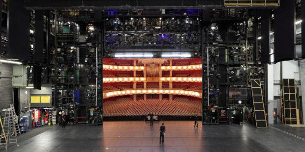 Bühnenraum der Bayerischen Staatsoper