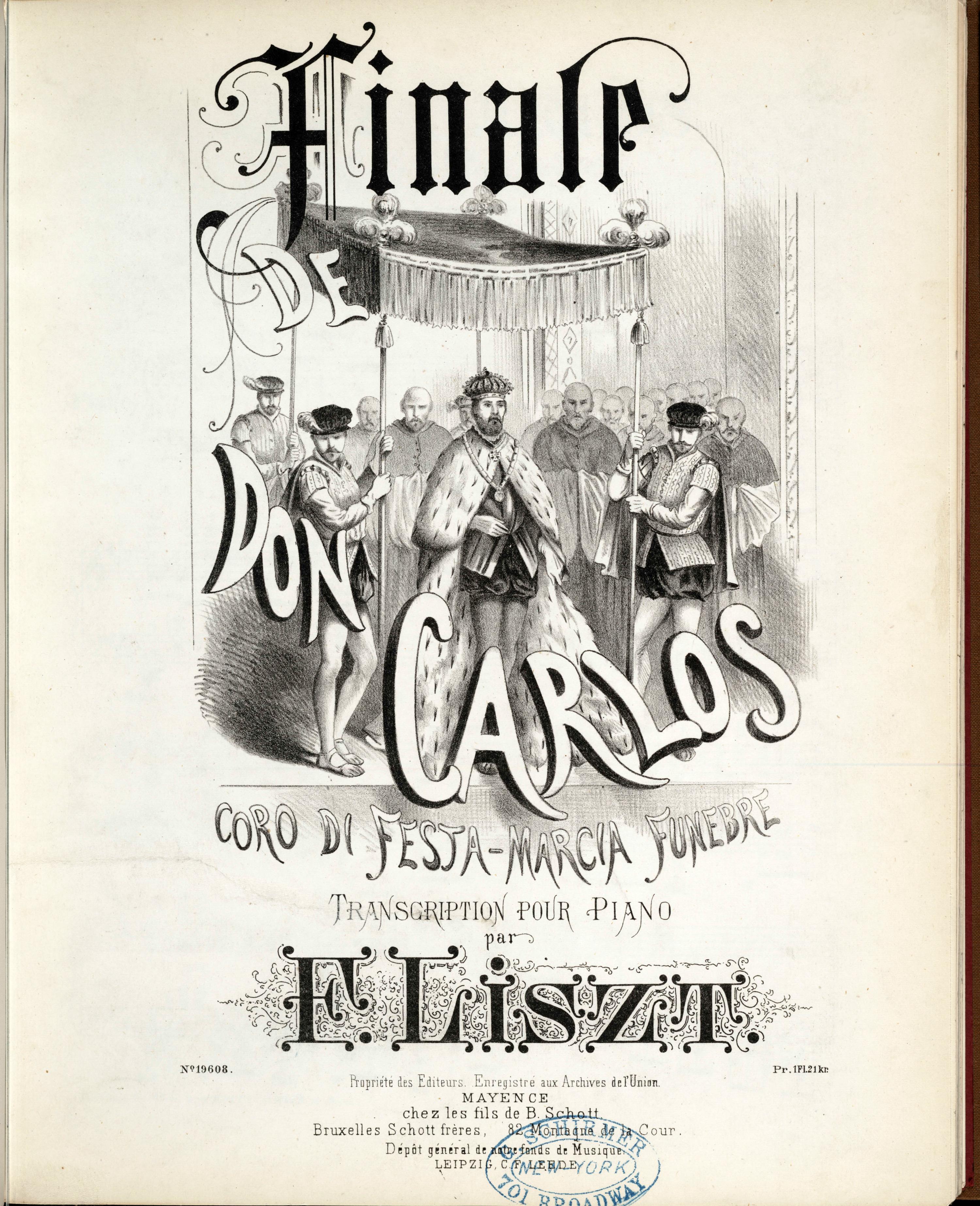 Don Carlos – Transkription des Coro di festa und des Marcia di funebre von Franz Liszt