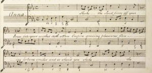 Henry Purcell: Dido and Aeneas, Arie der Anna. Handschrift von Edward Woodley Smith