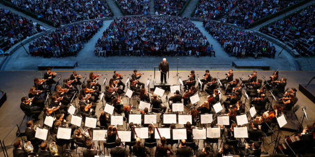 Daniel Barenboim und das West-Eastern Divan Orchestra auf der Waldbühne Berlin