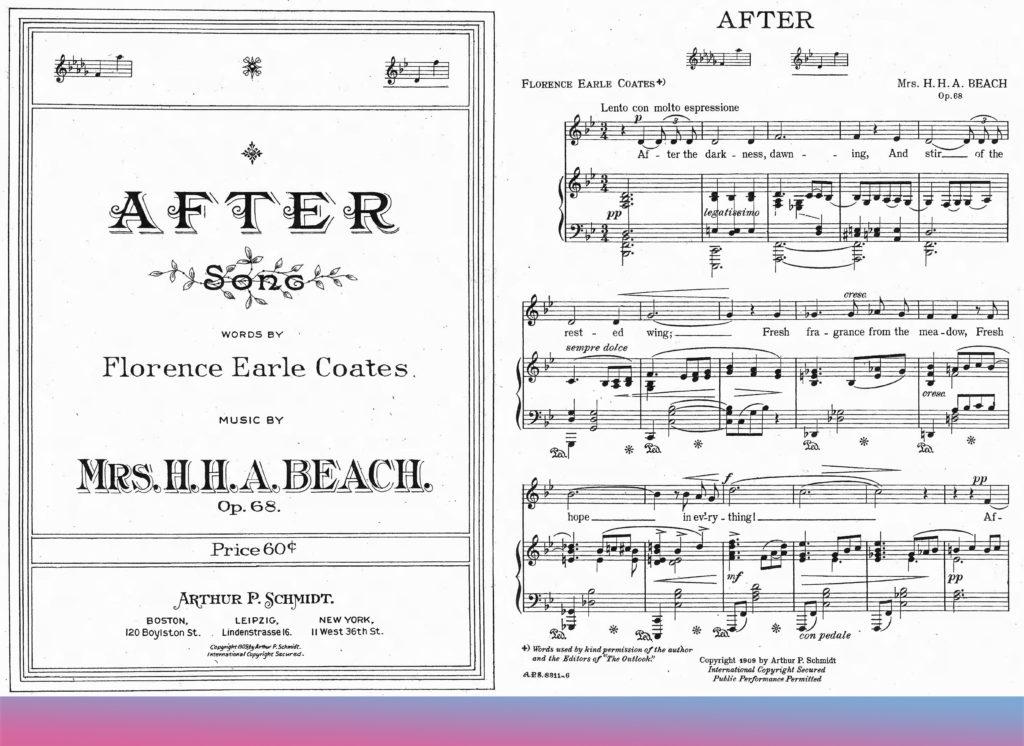 """""""Afer"""" von Amy Beach, Liedtext von Florence Earle Coates, 1909"""