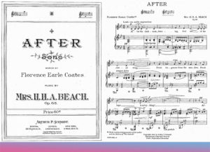 """Afer"" von Amy Beach, Liedtext von Florence Earle Coates, 1909"