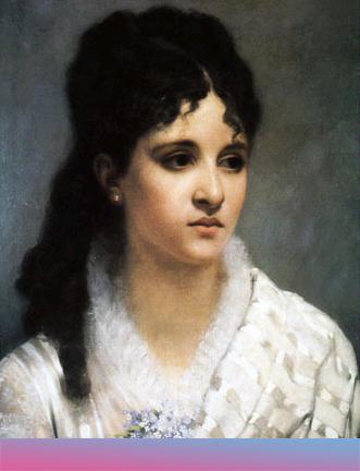 Mélanie Hélène Bonis. Gemälde von Charles-Auguste Corbineau, 1885