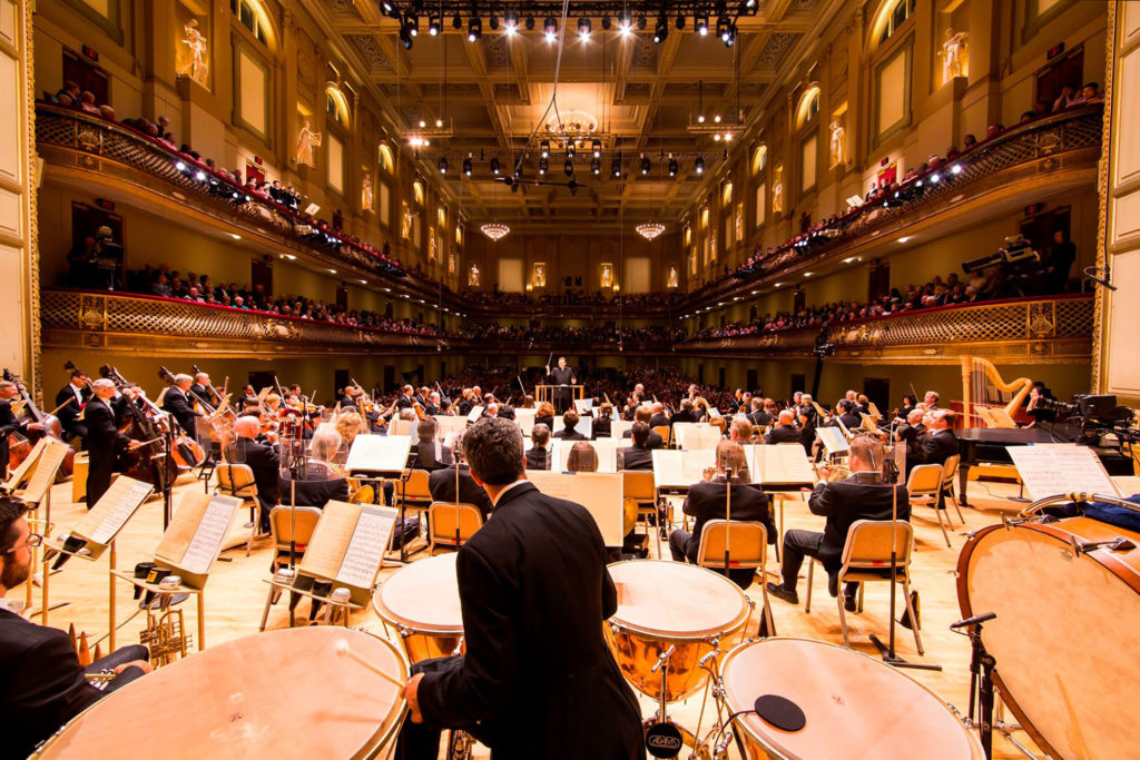 Das Boston Symphony Orchestra unter Andris Nelsons bei einem Konzert in der Bostoner Symphony Hall