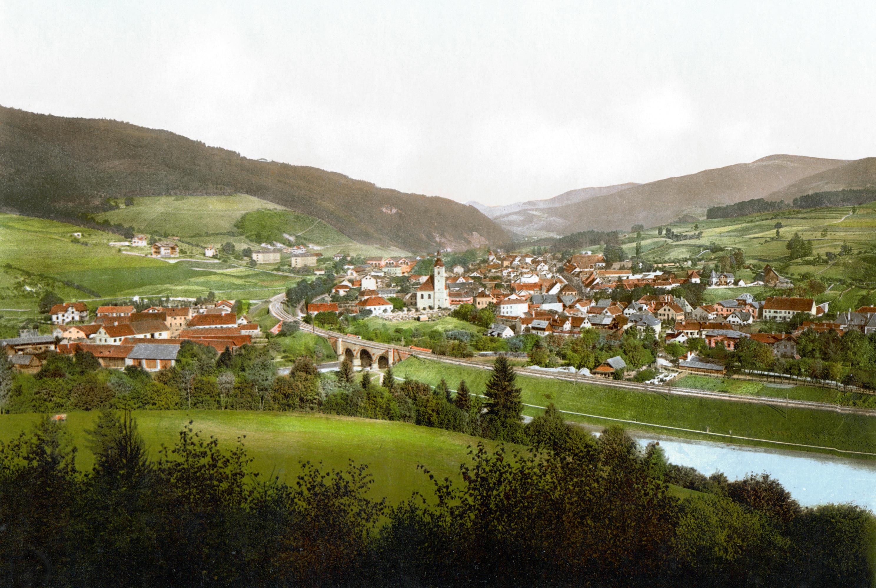 Mürzzuschlag, Postkarte ca. 1890-1900 © gemeinfrei