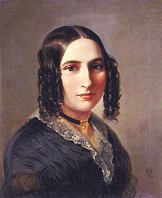 Fanny Hensel, 1842Fanny Hensel. Gemälde von Moritz Daniel Oppenheimer, 1842