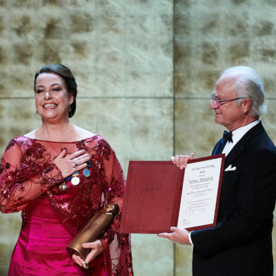 Birgit Nilsson Preis 2018: Überreichung des Preises an Nina Stemme durch König Carl XVI. Gustaf