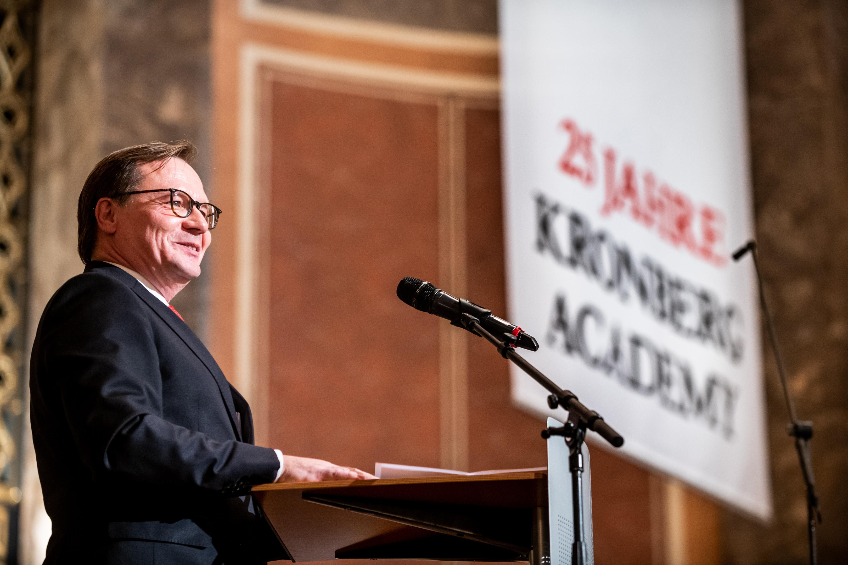 25 Jahre Kronberg Academy, Jubiläumskonzert. Rede des Academy-Gründers Raimund Trenkler