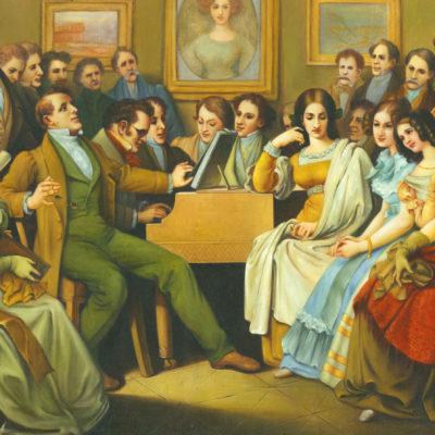 Beethoven gibt ein Salonkonzert (Ölgemälde)