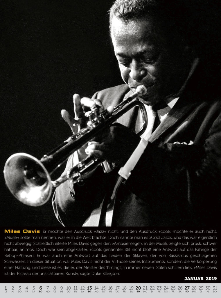 Der Jazz-Kalender. Miles Davis