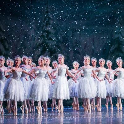 Tanzende Schneeflocken