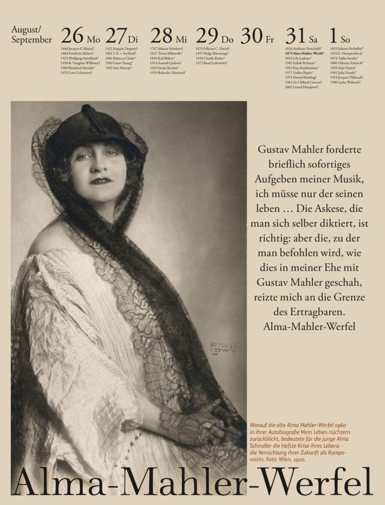 Der Musik-Kalender 2019. Alma Mahler-Werfel