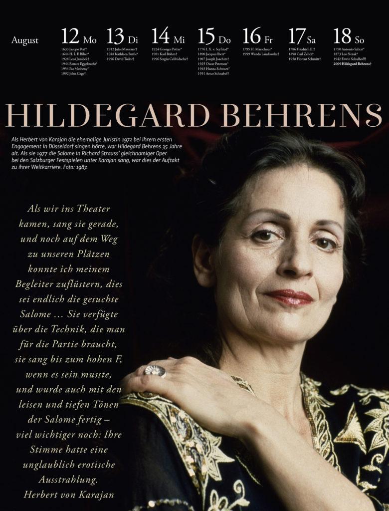Der Musik-Kalender 2019. Hildegard Behrens