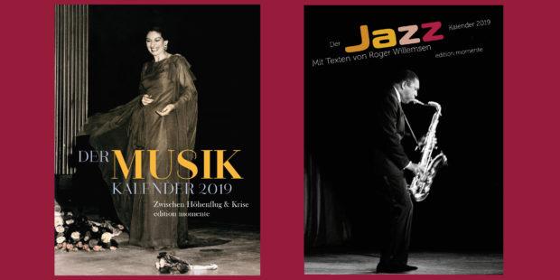 Der Musik-Kalender 2019 & Der Jazz-Kalender 2019 der edition momente
