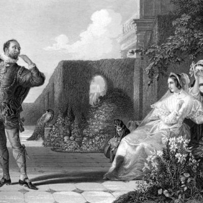 """Shakespeares """"Was ihr wollt"""". Stich von Daniel Maclise, 1859"""