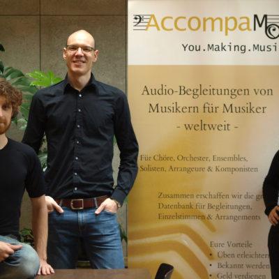 AccompaMe-Gründer Daniel Klier, Gabriel Gomez und Alexandra Petrovic