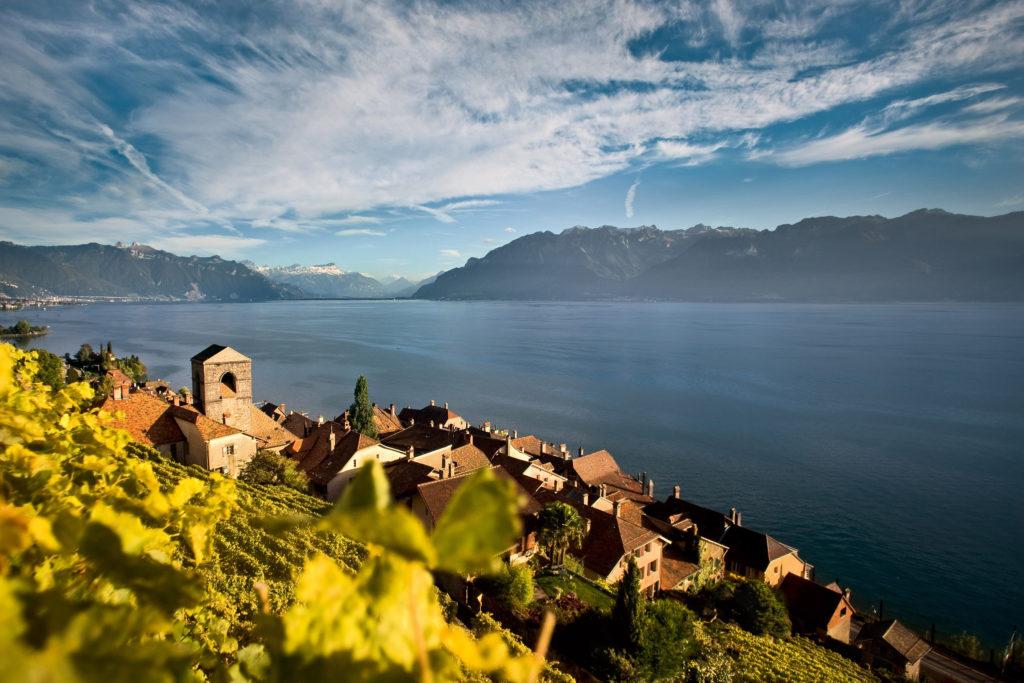Blick auf den Genfer See