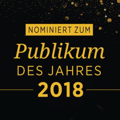 """Visual """"Nominiert Publikum des Jahres 2018"""""""